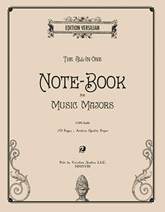 Staff Paper and Notebook for Music Majors