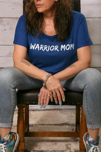 Warrior Mom Royal Blue T-Shirt