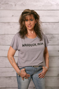 Warrior Mom Heather Gray T-Shirt