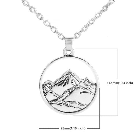 Mountain and River Camping Choker Necklace