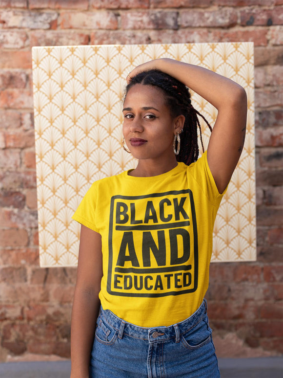 Black and Educated Short-Sleeve Unisex T-Shirt