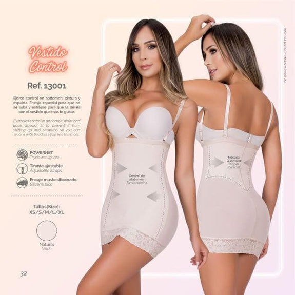 Moldeate 13001 Full Slip Shapewear