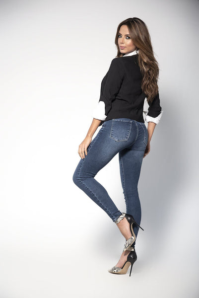 Mapale D1916 Classic Butt-Lifting Blue Jeans - SomethingTrendy.com