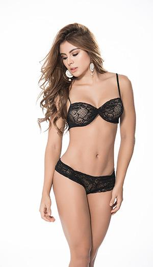 Mapale 207 Flirty Lace Top And Panty