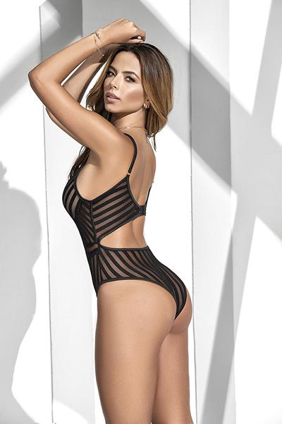 Mapale 2591 Bodysuit With Bust Lining And Adjustable Hook