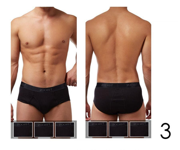2(X)IST 3102003903 Cotton 3PK Fly-Front Briefs
