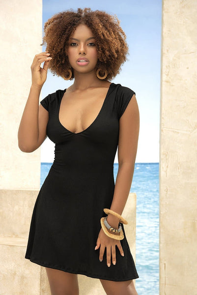 Mapale 4662 Lace-Up Beach Dress - SomethingTrendy.com