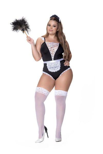 Mapale 6414X Plus Size French Maid Costume 3PC