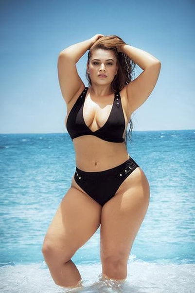 Mapale 6595X Plus Size High Waist Bikini - SomethingTrendy.com