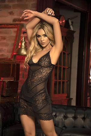 Mapale 7301 Midnight Howls Lace Babydoll Set