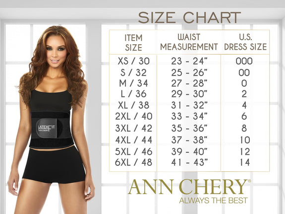 Ann Chery 2023 Latex Sport Workout Waist Cincher Corset
