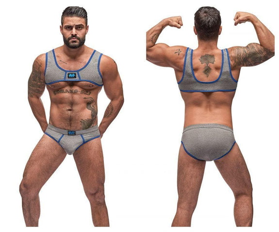 Male Power 100-052 Cotton Spandex Mini Tank Bikini Set