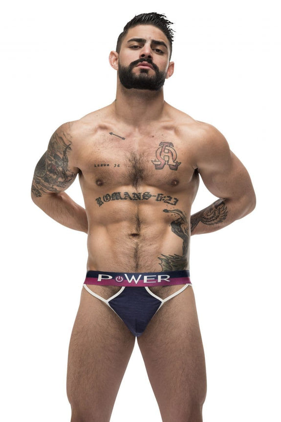 Male Power 302-246 French Terry Cutout Moonshine
