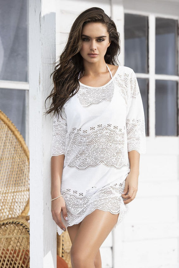 Mapale 7895 Crochet Netting Cover Up