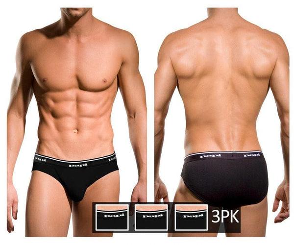 Papi 554101-001 3PK 1X1 Rib Low Rise Brief