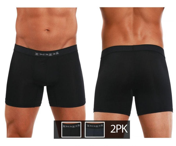 Papi 626185-962 Cool2 2PK Solid Boxer Briefs - SomethingTrendy.com