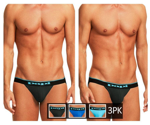 Papi 980911-941 3PK Cotton Stretch Jockstrap