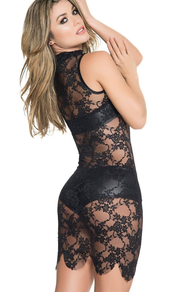 Sleeveless Lace See-Thru Three Piece Dress - ST1008 - SomethingTrendy.com