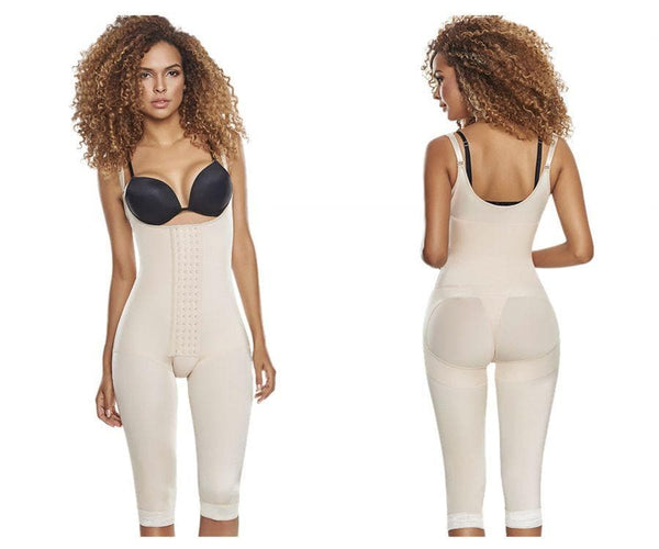 TrueShapers 1252 Slimming Braless Body Shaper Girdle With Thighs Slimmer