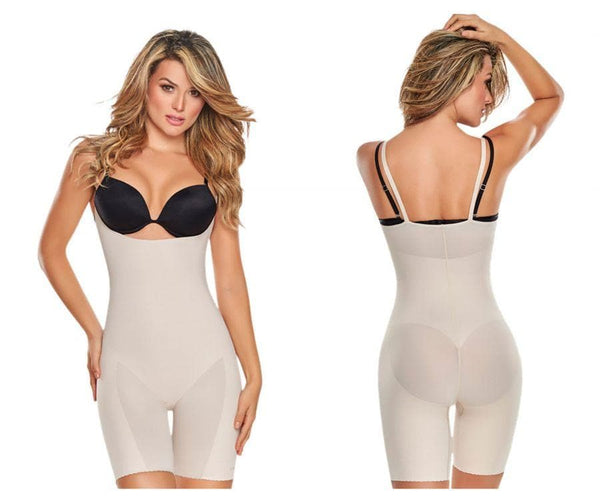 TrueShapers 1272 Mid-Thigh Invisible Open Bust Bodysuit