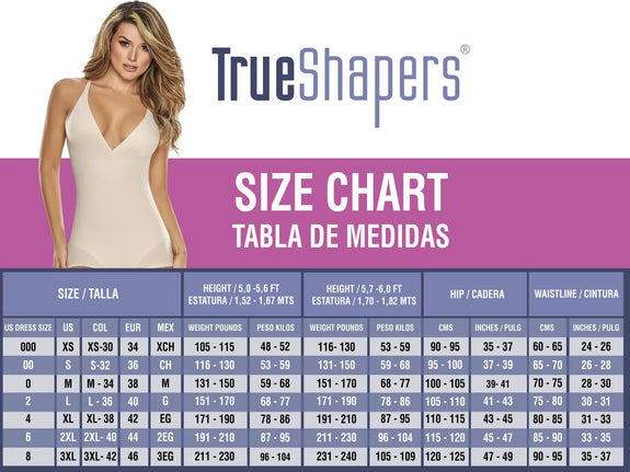 TrueShapers 1278 Mid-Thigh Invisible Bodysuit Shaper Short