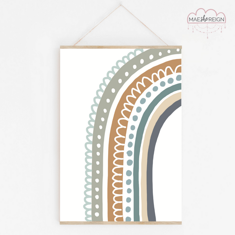 Blue Scandi Half Rainbow - Mae She Reign - Creative Studio