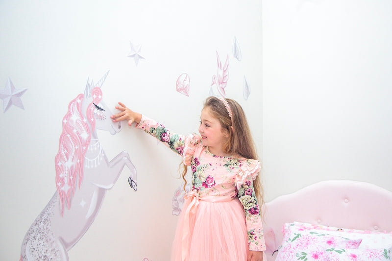 Celeste the Unicorn Standing Up Wall Decals - Mae She Reign - Creative Studio