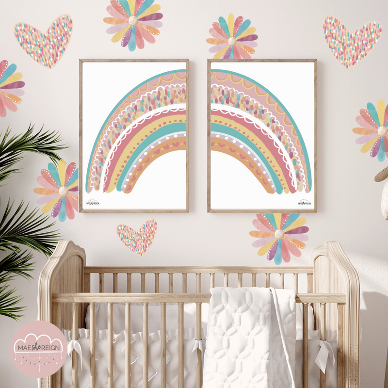 Confetti Rainbow SET (Pair) - Mae She Reign - Creative Studio