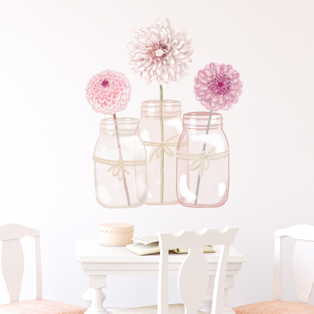 Dahlia Jars Shelfie Wall Decal - Mae She Reign - Creative Studio