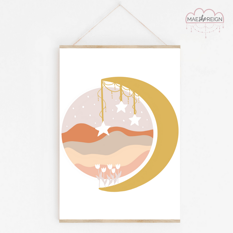 Mustard Wildflower Moon Landscape - Mae She Reign - Creative Studio