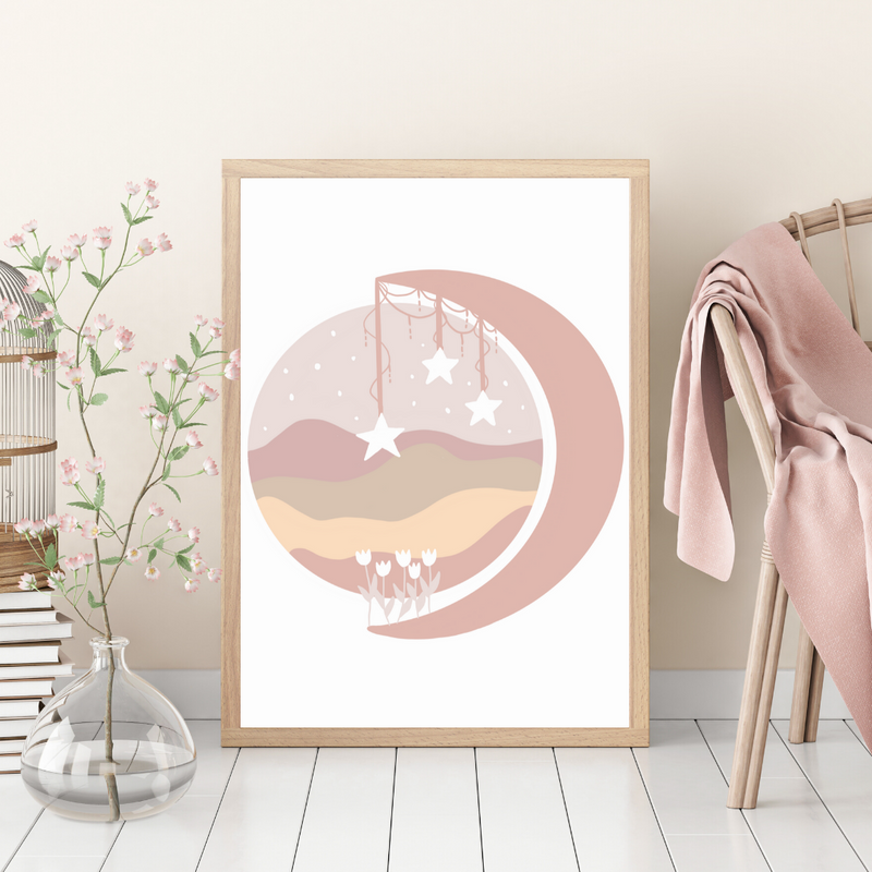Blush Wildflower Moon Landscape - Mae She Reign - Creative Studio