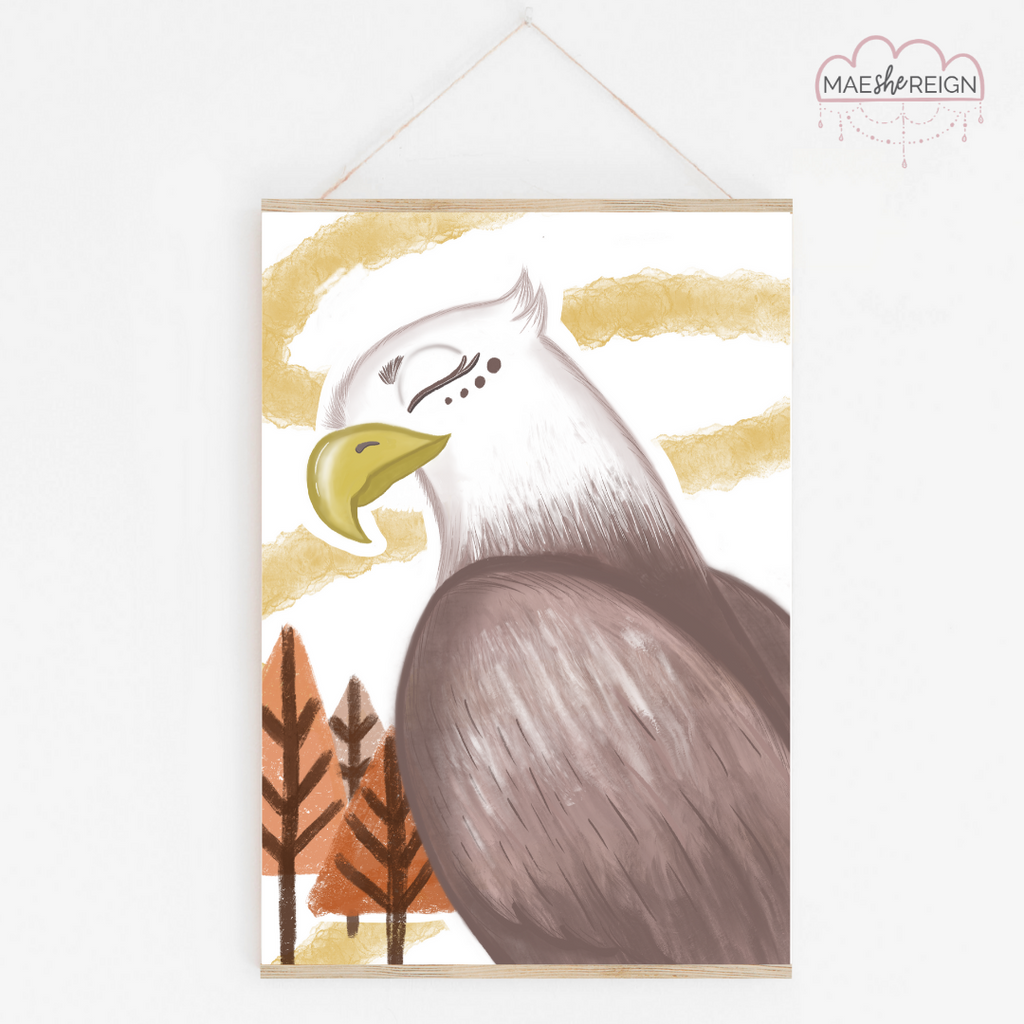 Baxter the Bald Eagle - Mae She Reign - Creative Studio