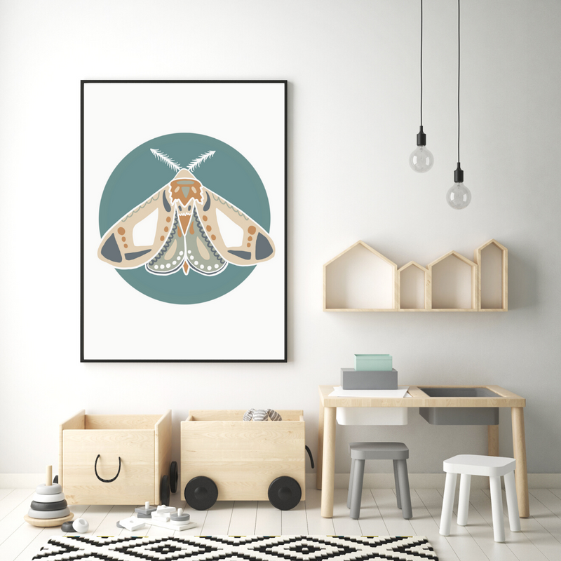 Blue Scandi Moth - Mae She Reign - Creative Studio