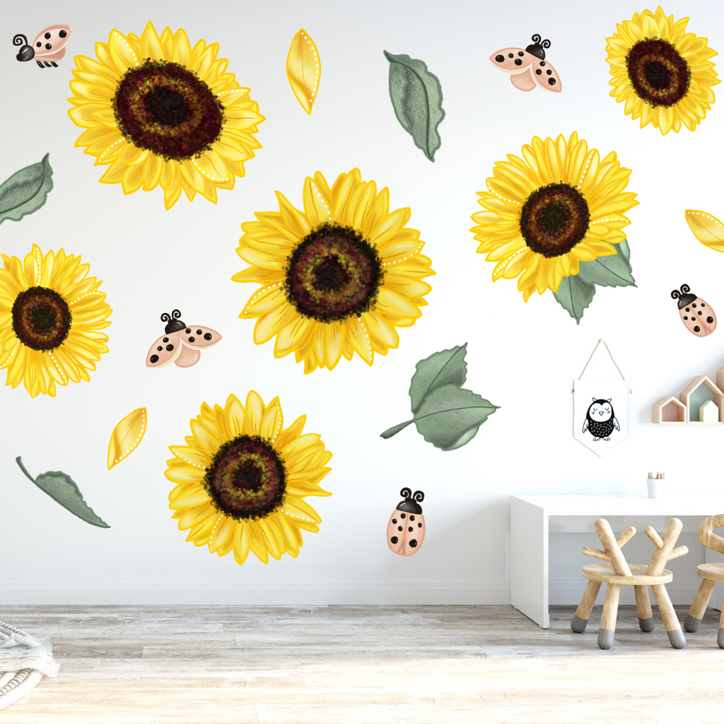 Vibe Sunflowers Wall Decals - Mae She Reign - Creative Studio