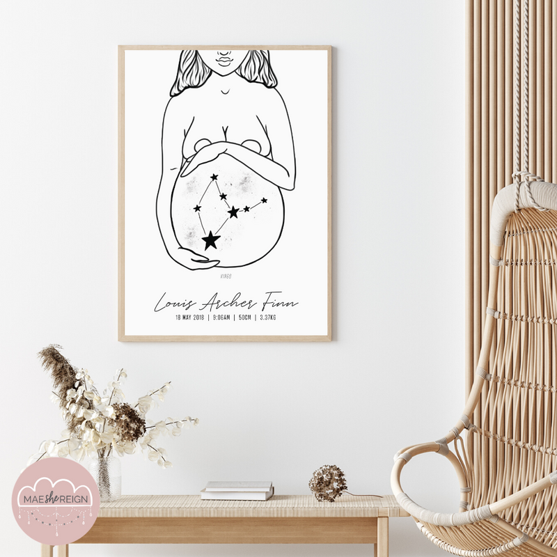 'Mother of Life' - Star Sign Constellation Poster - Mae She Reign - Creative Studio