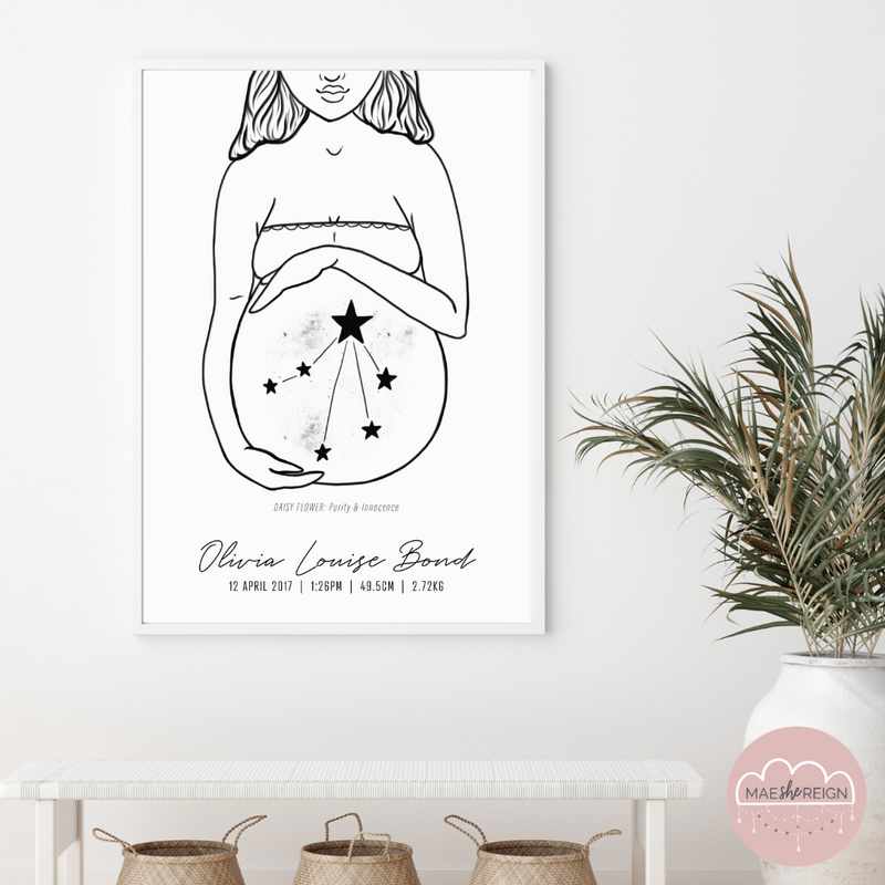 'Mother of Life' - Star Sign Constellation Poster (Modest) - Mae She Reign - Creative Studio
