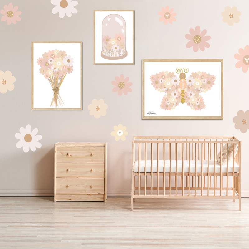 Blush Wildflower Landscape Butterfly - Mae She Reign - Creative Studio