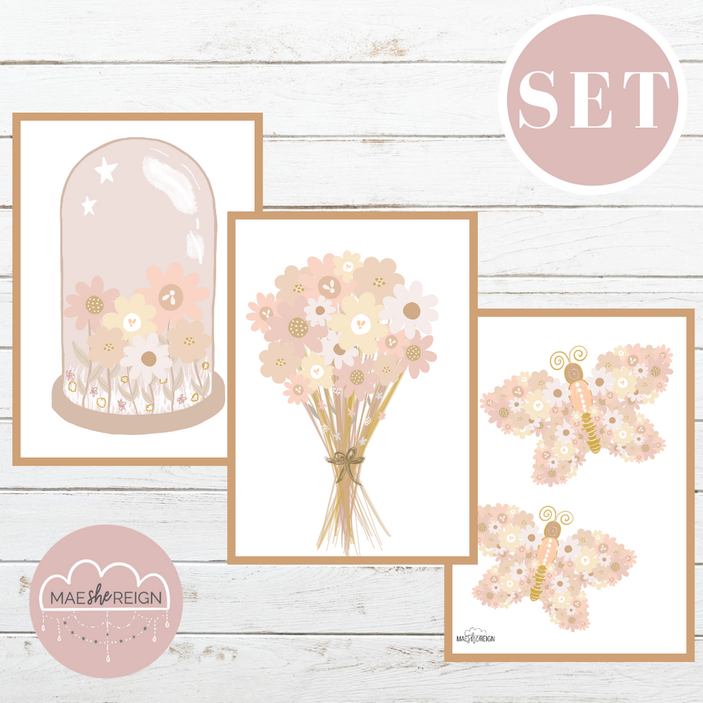 Blush Wildflowers V.20 Set (Trio) - Mae She Reign - Creative Studio