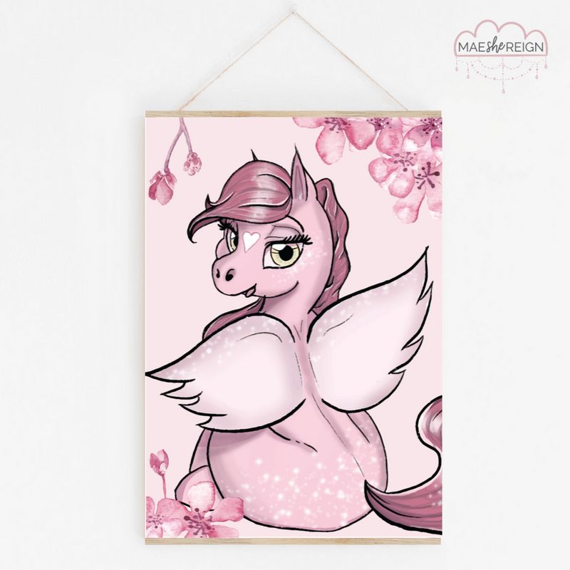 Cherry Blossom the Pegasus - Mae She Reign - Creative Studio