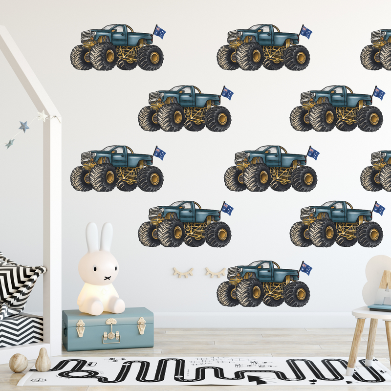 Repeated Monster Manic Wall Decals - Mae She Reign - Creative Studio
