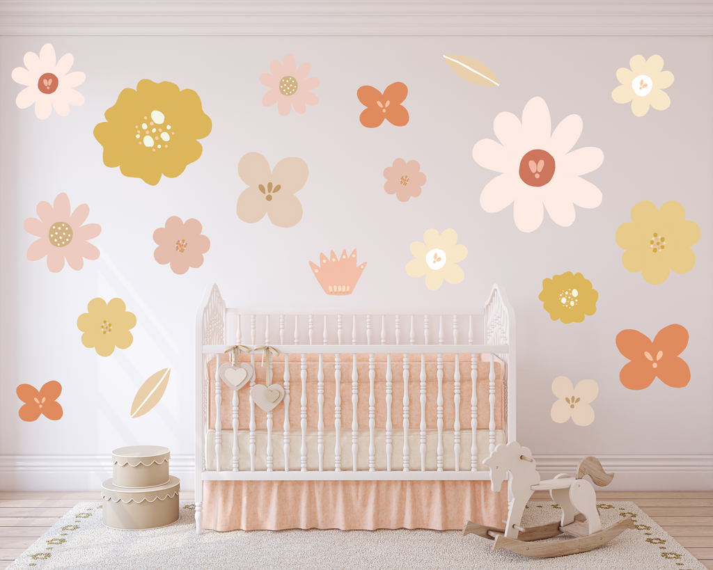 Days With Wildflowers [Mustard] Wall Decals - Mae She Reign - Creative Studio