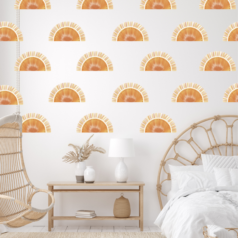 Golden Glow Sunsets Repeated Wall Decals - Mae She Reign - Creative Studio