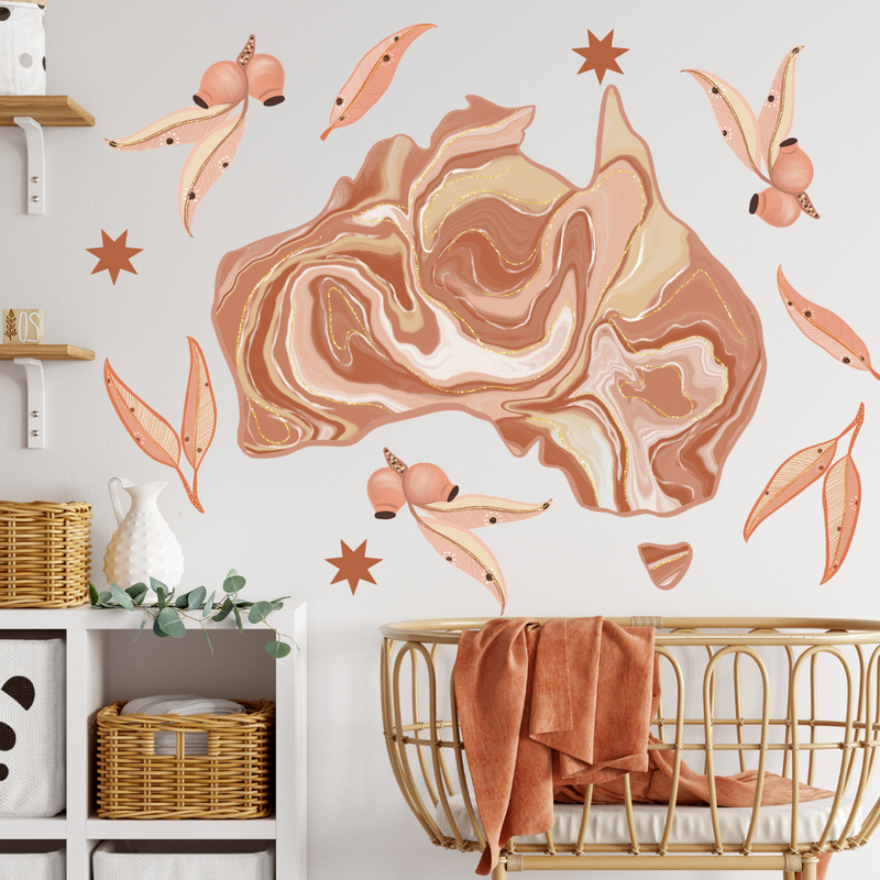 Marble Terracotta Australia Wall Decals - Mae She Reign - Creative Studio