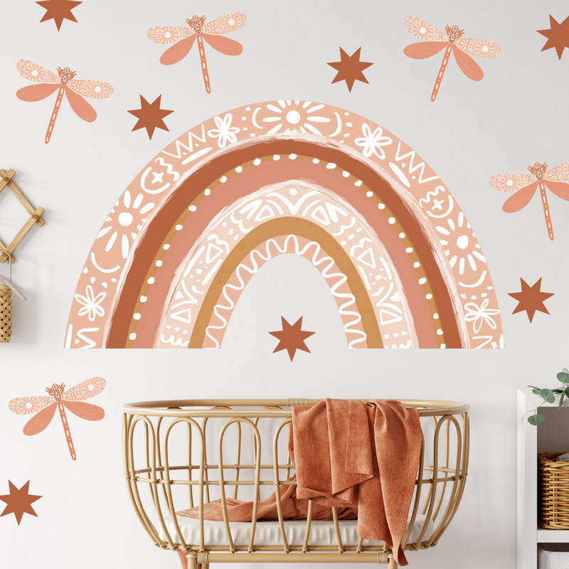 Terracotta Large Rainbow Wall Decals - Mae She Reign - Creative Studio