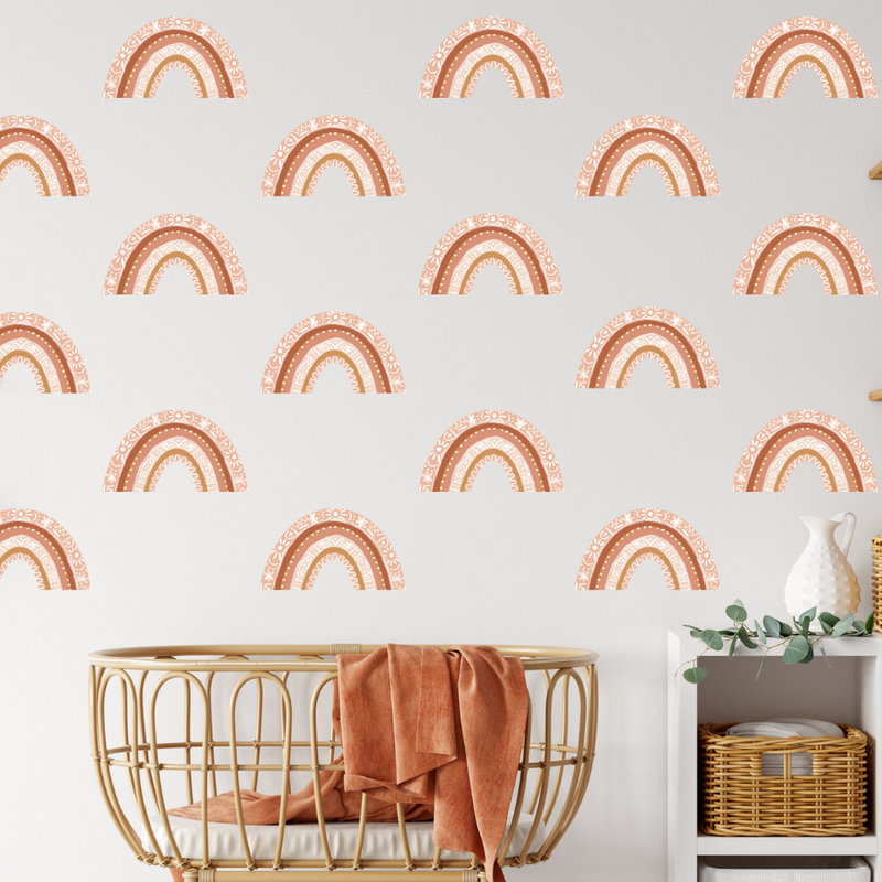 Terracotta Mini Rainbows Wall Decals - Mae She Reign - Creative Studio