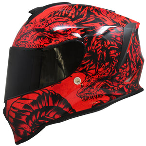 Casco Taff Drako Fire