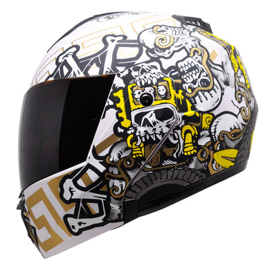 Casco Stealth Mictlan Blanco