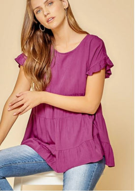 Grape Babydoll Top