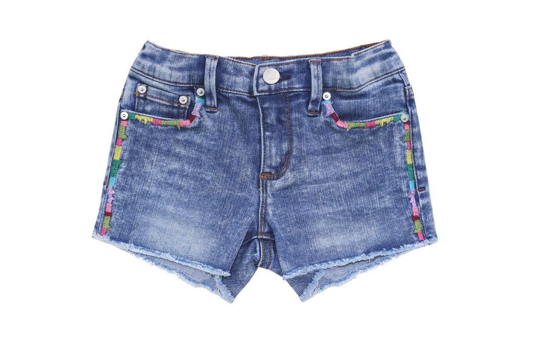 Kids Ego Fray Shorts with Color