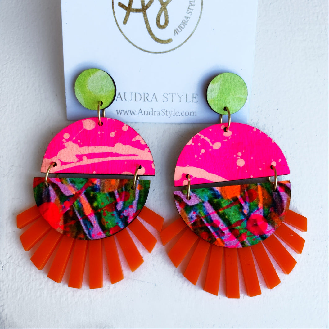 Roxie - Orange Vivi Neon Pink Lime